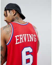 Mitchell & Ness - Nba Julius Erving Swingman Tank In Red for Men - Lyst