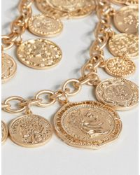ALDO Metallic Multirow Coin Necklace