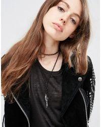 ASOS | Metallic Multirow Choker Lariat Necklace | Lyst