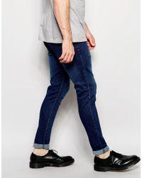 Dr. Denim | Blue Jeans Leon Drop Crotch Skinny Tapered Fit Dark Stone for Men | Lyst