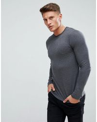 a7a576f73bfef7 Esprit Recycled Cotton Lightweight Jumper in Gray for Men - Lyst