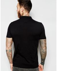 ASOS - Black Polo With Printed Pocket for Men - Lyst
