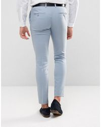 Only & Sons - Blue Skinny Wedding Suit Trousers for Men - Lyst