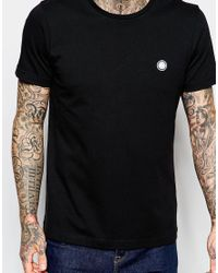 Pretty Green - Black T-shirt With Pg Logo for Men - Lyst