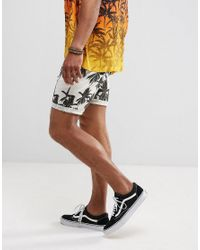 ASOS - Multicolor Festival Slim Shorts With Palm Tree Print for Men - Lyst
