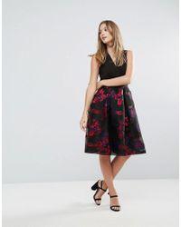 Closet - Multicolor Closet Contrast V-neck Floral Metallic Dress - Lyst