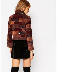 ASOS | Multicolor Jacket In Patchwork Leather | Lyst