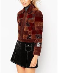 ASOS - Multicolor Jacket In Patchwork Leather - Lyst