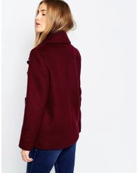 ASOS | Purple Jacket With Oversized Collar | Lyst