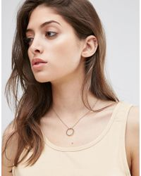 ASOS - Metallic Vintage Circle Necklace - Lyst