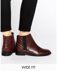 ASOS | Purple Alaska Wide Fit Leather Ankle Boots for Men | Lyst