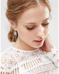 ASOS | Multicolor Crystal Charm Swing Earrings | Lyst