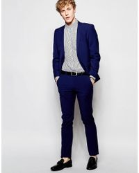 Ben Sherman - Blue Plain Suit Trousers for Men - Lyst