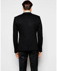 Noak | Black Jersey Blazer In Super Skinny Fit for Men | Lyst