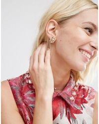 ASOS - Pink Pretty Stone Stud Earrings - Lyst