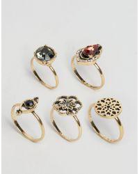 ASOS   Metallic Vintage Trinket Rings   Lyst