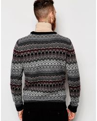 Weekday - Multicolor Crew Jumper Life Jaquard Knit for Men - Lyst