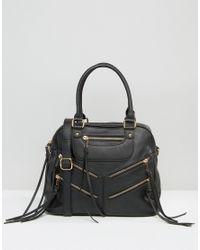 Yoki Fashion Black Bag With Zips
