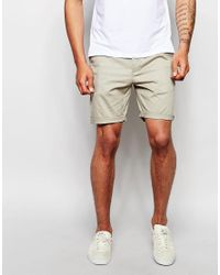 ASOS | Slim Chino Shorts In Light Green for Men | Lyst