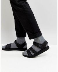 e5d00063f Lyst - ASOS Asos Sandals In Black With Tape Straps in Black for Men