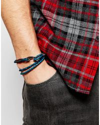 Paul Smith - Blue Wraparound Bracelet for Men - Lyst
