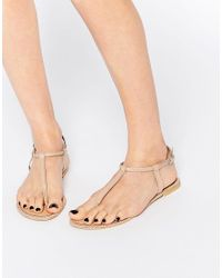 ASOS | Natural Feather Leather Plait Sandals | Lyst
