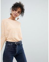 New Look - Yellow Stripe Slouchy Tee - Lyst