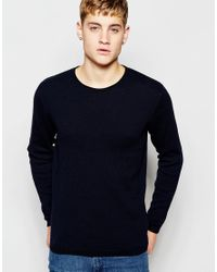 Jack & Jones | Black Knitted Sweater In Mixed Yarns for Men | Lyst