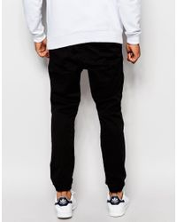 Jack & Jones - Black Woven Joggers for Men - Lyst