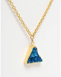Only Child - Metallic Nly Child Crystal Pyramid Pendant Necklace - Lyst