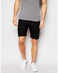 Junk De Luxe - Black Structure Shorts for Men - Lyst