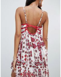 Raga - Red Native Dreams Printed Cami Dress - Lyst