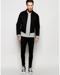 ASOS - Military Jacket With Chest Pockets In Black for Men - Lyst