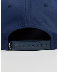 Huf - Blue Snapback Cap Triple Triangle for Men - Lyst