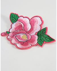 ASOS - Pack Of 2 Rose Badges - Pink - Lyst