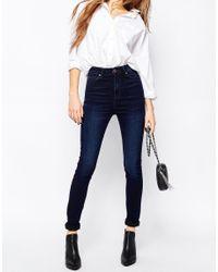 Dr. Denim | Blue Zoe Sky High Waist Skinny Jean | Lyst