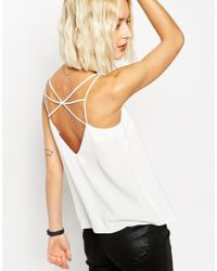 ASOS - Natural Strap Detail Cami Top - Lyst