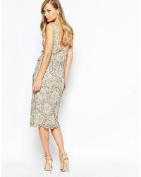 Frock and Frill - Metallic Heavy Embellished Sparkle 2 In 1 Midi Dress - Lyst