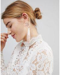ASOS - Multicolor Asos Pretty Flower And Ombre Tassel Earrings - Lyst