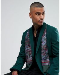 Pretty Green - Green Skinny Paisley Scarf for Men - Lyst