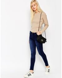 ASOS - Natural Jumper In Rib With Crew Neck - Lyst