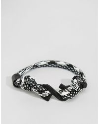 Classics 77 | Black Rope Twist Bracelet for Men | Lyst