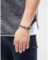 Classics 77 - Black Rope Twist Bracelet for Men - Lyst