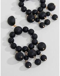 ASOS - Black Matte Bead Drop Earrings - Lyst