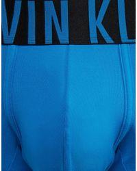 Calvin Klein - Trunks Intense Power Microfibre - Blue for Men - Lyst