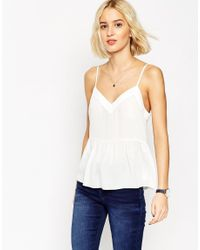 ASOS | Multicolor Soft Gathered Pretty Cami Top | Lyst