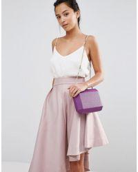 Claudia Canova - Purple Box Clutch Bag - Lyst