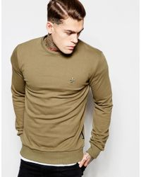 Criminal Damage | Natural Sweatshirt With Small Logo for Men | Lyst