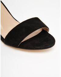 Carvela Kurt Geiger - Black Leyland Ankle Strap Jewel Mid Heeled Sandals - Lyst