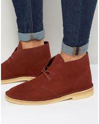 Clarks - Red Desert Boots for Men - Lyst